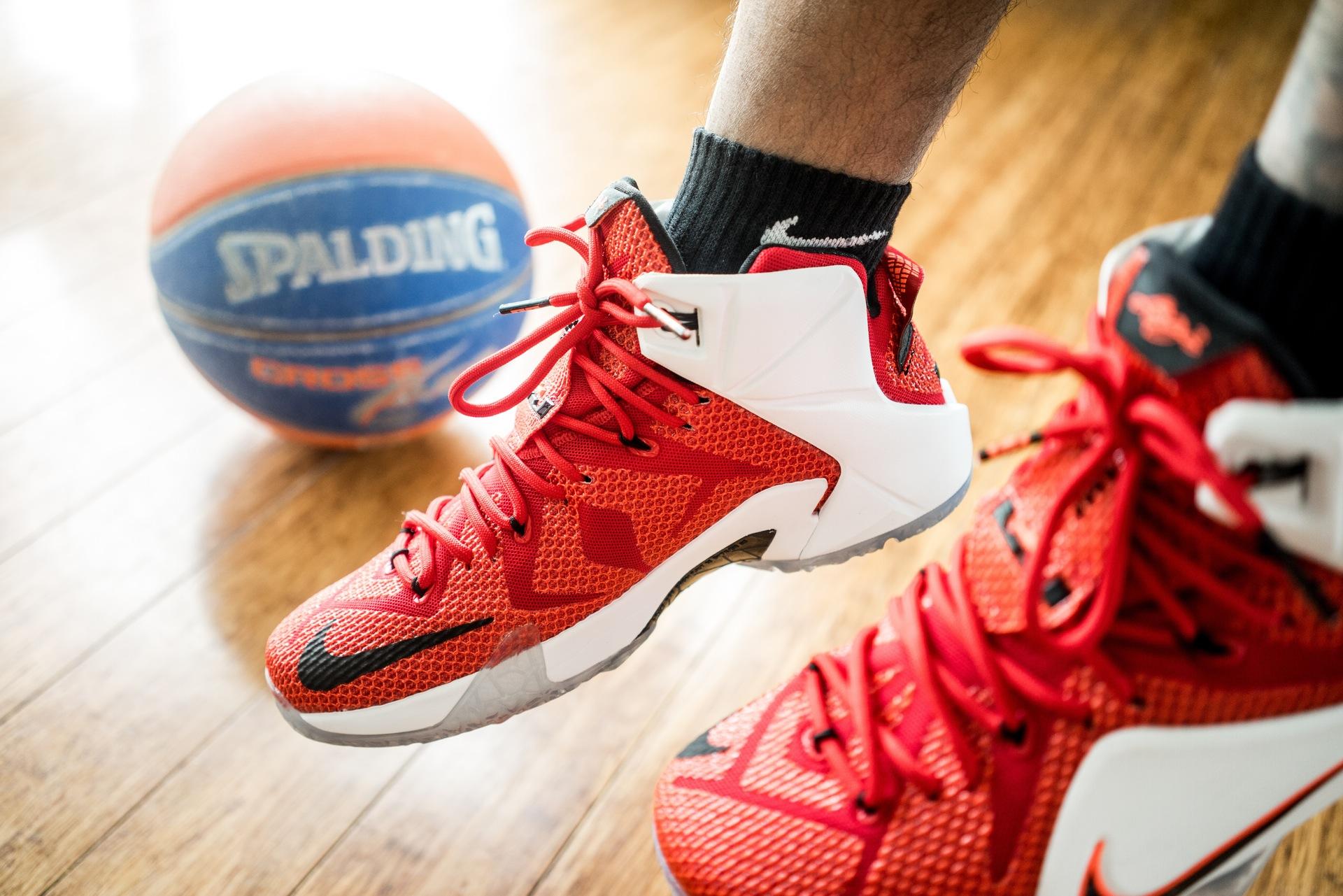 shoes lebron nike spalding
